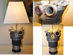 SALE  Airplane Radial Engine Cylinder Lamp by GlitternGrease, $150.00