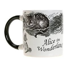 Straight out of Alice's Adventures in Wonderland comes this mug with a most elusive feline. Pour hot water into the mug and the Cheshire cat disappears, leaving behind only a grin. Perhaps this fellow could give Congress a lesson in transparency. 10 ounce mug; hand wash only.