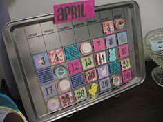 Sugar and Shimmer: Magnetic Calendar - April