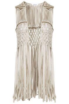 **Tassel Trim Waistcoat by Glamorous - Topshop