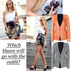 You are the judge, tell us which is blazer right for the outfit? #fashion #style #objection #blazer #styling @Sirma Markova