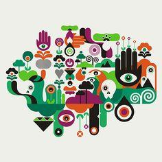 Illustrations by Fernando Volken Togni | Inspiration Grid | Design Inspiration