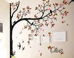 Tree wall decal huge tree wall decals nursery wall by StudioQuee