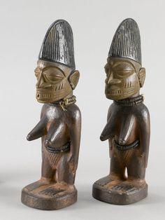 Yoruba Ere Ibeji (Twin Figure), Igbomina - Ajasse, Nigeria http://www.imodara.com/item/nigeria-yoruba-ere-ibeji-twin-figure-igbomina-ajasse/
