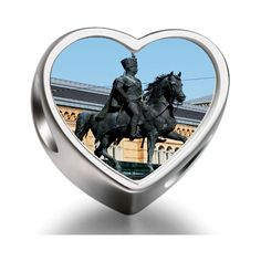 Bracelet Charm Bead The statue of King Ernst August Heart Sterling Silver Charm Beads Biagi beads European Charms Bracelets *** Continue to the product at the image link. (This is an affiliate link) #Charms #SterlingSilverCharms