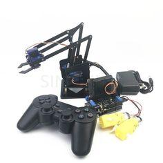 4 DOF remote control PS2 robotic arm aluminum alloy sg90 arduino robot assembly #arduinorobot