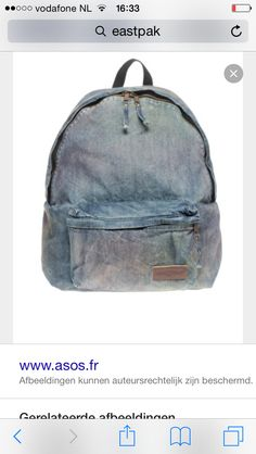 800ed212430 Shop Eastpak Denim Backpack at ASOS.