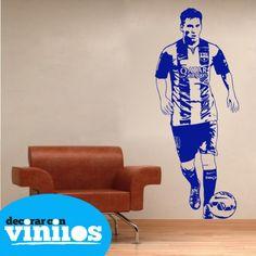 Vinilos Decorativos - Leo Messi : Vinilos de deportes - Decorar con vinilos - Tienda de vinilos decorativos online