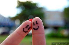 Cute, finger, couple, art, lovely