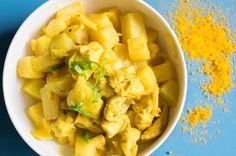 Ein tolles Curry Rezept für Low Carb Liebhaber! Hühnchen-Curry auf Kohlrabi Basis. Schmeckt hervorragend und hat kaum Kohlenhydrate. Lecker!