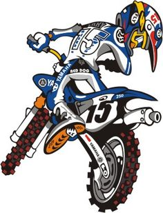 Yamaha Motocross, Motos Yamaha, Ducati, Motorcycle Art, Bike Art, Stickers Yamaha, Motos Trial, Bike Drawing, Off Road Bikes