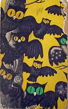 Backcover of Veertien Uilen, (Dutch) children's book, by Annie M.G. Schmidt.