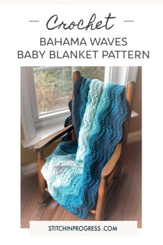 Can't you see this gorgeous crochet baby blanket in all sorts of color combinations? This pattern works up in sweet waves perfect for any nursery. Find the full pattern and video instructions on my blog. #crochet #freepattern #babyblanket #nurserydecor