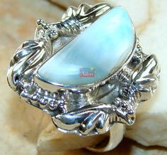 Beautiful item with Larimar Gemstone(s) set in pure 925 sterling silver.