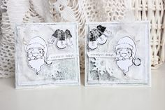 """cards by Noomiy Miy with 3rd Eye stamps:   TES-016elbahia, TES-041lightbulbs, TES-044DearSanta *** more here:   http://3rdeyecraft.blogspot.com/2012/11/happyxmas.html ***   """" Hello everyone!  I'm coming today with two (almost the same) card.  Both of them are full of white and grey colors,  so the match perfectly to 3rd Eye Foggy Challenge!  I used few beautiful stamps here. [...]""""  more on blog! :)"""