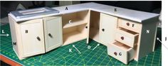 How to make Kitchen Cabinets for Dollhouse