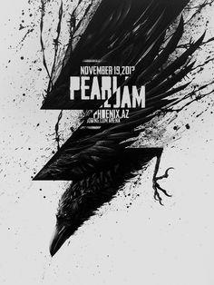 Pearl Jam Phoeniz AZ 2013 tour poster by sit