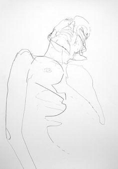Nicholas Hutcheson - Estudo feminino. Grafite s/ papel, 2005