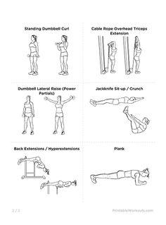 Bikini Body Tone Up Printable Workout Plan for Women | Printable Workouts