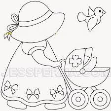 Sunbonnet Sue Applique by Free Applique Patterns, Applique Templates, Hand Embroidery Patterns, Embroidery Designs, Sunbonnet Sue, Patchwork Quilting, Applique Quilts, Quilt Baby, Doll Quilt