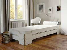 zwei stapelbare betten in gleicher gr e stapelbett elliot platzsparend http. Black Bedroom Furniture Sets. Home Design Ideas