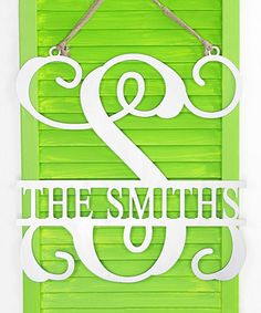 Loving this Personalized Metal Letter & Name Wall Décor on #zulily! #zulilyfinds