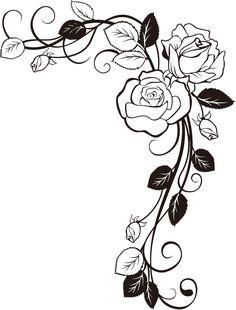 画像サンプル-バラの装飾素材・コーナー用. Afbeelding steekproef - voor decoratie materialen en de hoek van de roos