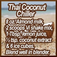 Thai Coconut Chiller ViSalus Recipe