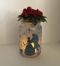 Beauty and the Beast Lantern  Beauty and the Beast Luminaire
