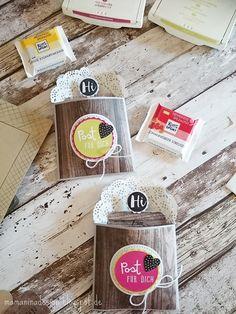 schnelle Rittersport-Mini Verpackung mit dem Stanz- & Falzbrett für Geschenktüten DIY