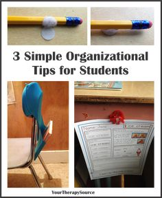 Students desks can get very messy but when a student has difficulties with organizational skills it can be even more difficult. Pencils roll away, worksheets get lost or crumpled and books are on the floor. Here are three simple ways to clean up and organize that desk space: 1. The Anti Roll Pencil – just …