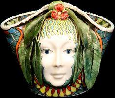 DAVID BURNHAM SMITH.... ceramics. Face vessel.......  . Master Ceramic Artist from the  United Kingdom