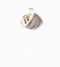 Image 1 of Fleece knit snood from Zara