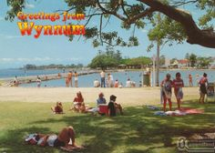 "<span class=""caption-caption"">Picnic area and wading pool, Wynnum</span>, 1991. <br />Postcard by <span class=""caption-publisher"">Sunbird Souvenirs</span>, collection of <span class=""caption-contributor"">Centre for the Government of Queensland</span>."