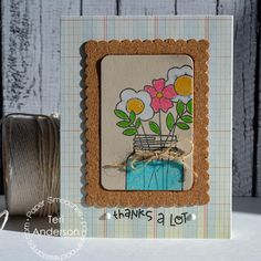 Card By Ps Dt Teri Anderson Using Best Buds Scalloped Frames S Mason Jar