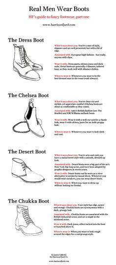 Men's Basics:  Boot Advice ---> FOLLOW US ON PINTEREST for Style Tips, Men's Basics,  Men's Essentials on anything, OUR SALES etc... ~ VujuWear