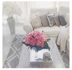 Carly Christmans apartment. Grey decor, interior decor, home style