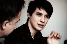 Dan Howell on The Culture Show I WILL FIND THIS EPISODE AND BE LIKE MOOOMMMM IM LEARNING AS I JUST STARE AT HIS FACE THE WHOLE TIME