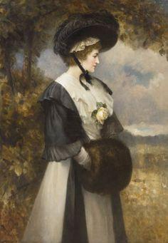 Edward Hughes (1832 - 1908) - A refined lady, 1906