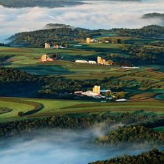 Farms in the clouds along St. Mary's Ridge in Southwest Wisconsin. @natgeo
