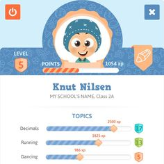 RPG profile for learning App by Vonagard