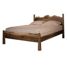 Live-Edge Bed from The Joinery. Love this bed frame!