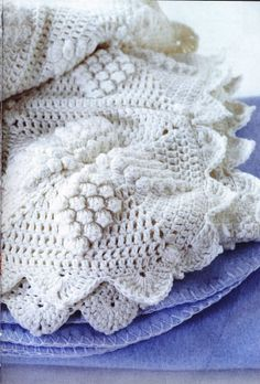 How to knit a blanket in a luxurious Victorian style for a baby or an adult.