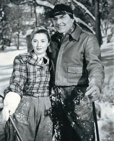 Barbara Stanwyck and George Brent in My Reputation ( 1946 ) Old Hollywood Stars, Golden Age Of Hollywood, Vintage Hollywood, Classic Hollywood, The Lady Eve, Don Ameche, George Brent, Santa Monica California, Fritz Lang