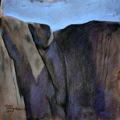 Anne Kimiläinen; Kallo III, 50 x 50 cm, charcoal & pastel