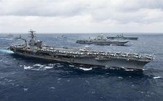 Download wallpapers USS Nimitz, CVN-68, American aircraft carrier, Pacific Fleet, US Navy, nuclear aircraft carrier