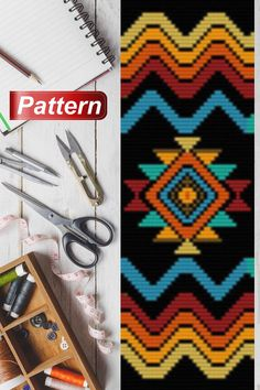 bead weaving patterns for bracelets Native Beading Patterns, Tribal Patterns, Beaded Bracelet Patterns, Bead Loom Patterns, Weaving Patterns, Knitting Patterns, Art Patterns, Color Patterns, Mosaic Patterns
