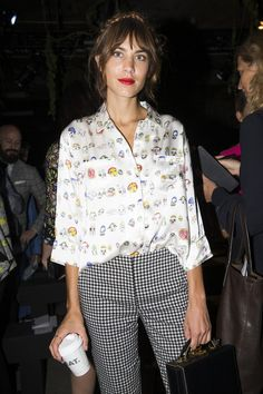 alexastyle: Alexa Chung attends the Erdem show during London...