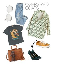 """#OversizedCoat"" by karimesar on Polyvore featuring moda, Forever 21, Levi's y Victoria Beckham"