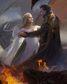 Queen Daenerys Targaryen and King Jon Snow